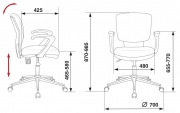 Кресло Бюрократ CH-636 AXSL