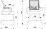 Кресло Бюрократ на полозьях CH-695N-AV